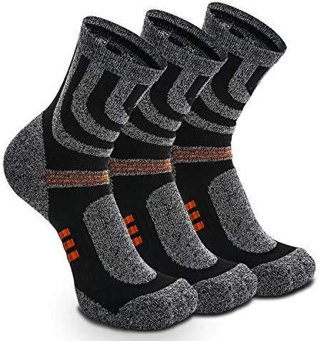 Week-end Péninsule Lot de 3 paires de chaussettes trekking et trekking Sport Homme et femme en bulbes anti chauds, pour activités de plein air