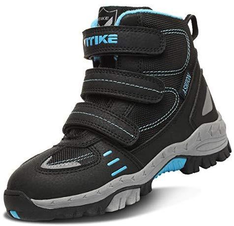 VITIKE Chaussures en coton pour enfants Bottes de neige d'hiver Chaussures de trekking Garçon Walking Light Trekking Chaussures de sport de plein air Bottes d'escalade
