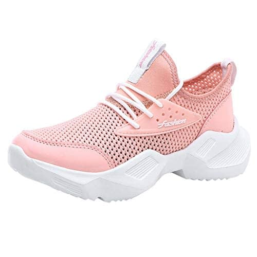 LUBITY Chaussures de sport pour femmes Plateformes Espadrilles de course Compensées Espadrilles de course de fitness Chaussures de sport décontractées Chaussures de course en mesh légères et respirantes