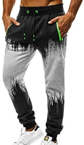 NPRADLA Hommes Mode Sport Jogging Fitness Casual Haletant Pantalon En Vrac Cordon Pantalon Blouses Printemps Été Casual Mode Nouveau