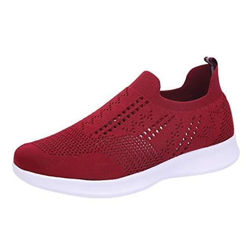 Baskets LUBITY Chaussures de course pour femmes Baskets chaussettes en mesh respirant Sneakers de jogging en plein air Sneakers respirantes en mesh respirant de la mode d'été Chaussures de sport légères et antidérapantes