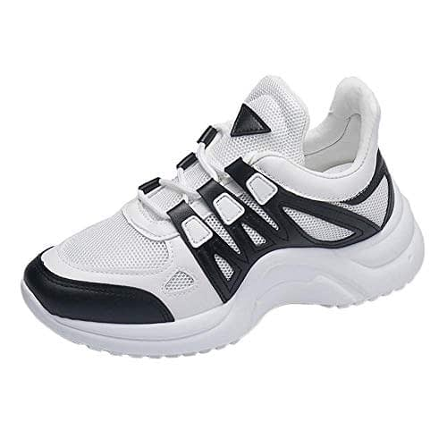 La meilleure vente! Sneakers Femme, LuckyGirls Mixte Adulte Homme Femme Air Casual Sneakers Chaussures de course Sneakers Outdoor Running Sport Fitness Gym Respirant Chaussures 35-43
