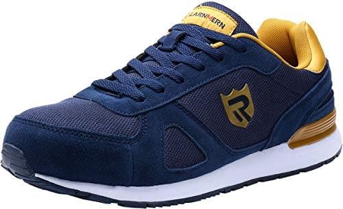 LARNMERN Chaussures de sécurité pour hommes Toe Protection en acier, panier léger Chaussures de travail respirantes