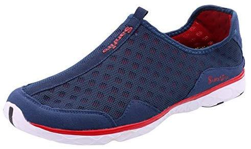 Inconnu LIEBE721 Hommes Chaussures Plat Vacances d'été Chaussures d'eau Loisirs Sneaker léger Mode de plage Slip on Confort Mesh Chaussures