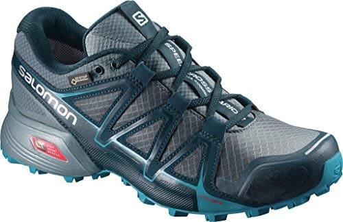 Chaussures de course et de course sur route Speedcross Vario 2 GTX Salomon, synthétique / textile, bleu, taille