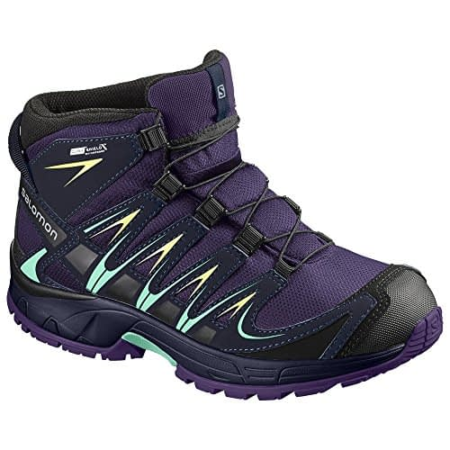 adidas XA Pro 3D Mid CSWP J, Chaussures de trekking junior basses, Violet (Acai / Bleu soirée / Biscay Green 000), 34 EU