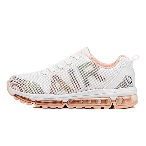 Axcone Hommes Femmes Air Running Sneakers Chaussures De Course En Plein Air Gym Fitness Sport Sneakers Respirant Multicolore Style - 35EU-45EU