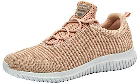 riemot Sneakers pour femmes et hommes, chaussures de sport de course Running Fitness Tennis Slip on Light Sneakers basses confortables et à la mode