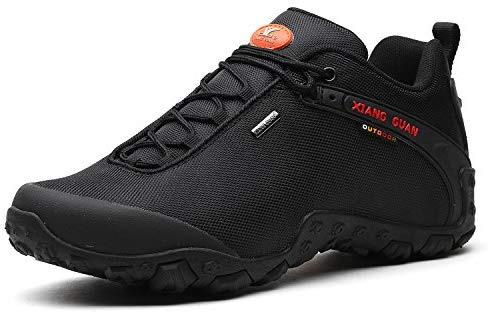 XIANG GUAN Chaussures de randonnée pour hommes Chaussures imperméables basses Chaussures de sport 81283 Noir