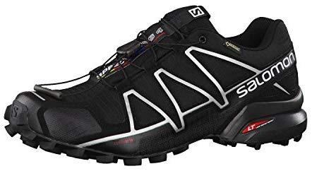 Chaussures de course Endurance Salomon Speedcross 4 pour homme, NOIR / NOIR / ARGENT MÉTALLIQUE-X