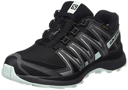 Chaussures de course pour femmes Salomon, XA LITE GTX W, Couleur: Noir / Turquoise (Noir / Magnet / Fair Aqua), Taille: EU 36 2/3