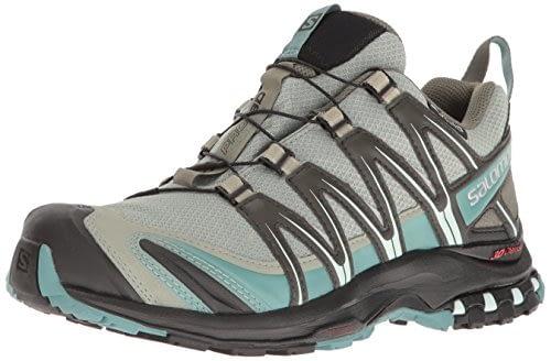 SALOMON - Chaussures de trail femme XA Pro 3D CS WP, Gris (Shadow / Black / Arctic.), 42 EU