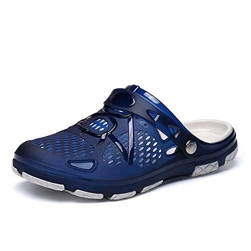 Sandales antidérapantes pour hommes en plastique pour plage, jardin, hôpital, plastique, bleu, jaune, bleu, 41-45