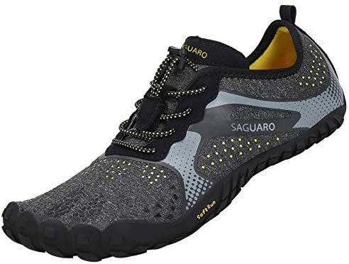 SAGUARO Chaussures de course sur sentier Homme Femme Chaussures minimalistes Chaussures de sport Gym en plein air et intérieur Fitness Randonnée Escalade Marche Chaussures aux pieds nus Chaussures aquatiques