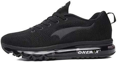 ONEMIX chaussures de course pour hommes 3D tricot léger coussin d'air pour la marche Gym Fitness Jogging Fitness sport de plein air Casual Sneaker