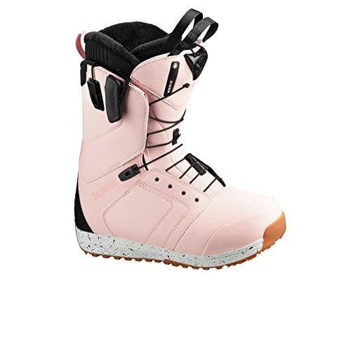 SALOMON - Bottes de snowboard Kiana Veiled Ros / BK / Dijon - Femme - Rose