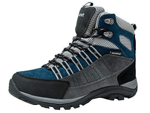 riemot Chaussures de trekking pour hommes et femmes, Chaussures de trekking Trekking Escalade Montagne Sports de plein air Etanche lumière