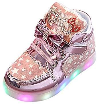 Chaussures enfants Ballerines + Brillant Couronne Princesse Paillettes Noeud Papillon Dentelle, Sweet Girl Sweet Fashion Bébé Enfant Anti-