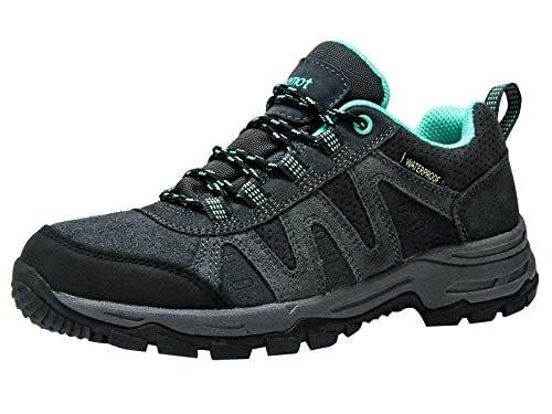 riemot Chaussures de randonnée basses Femme, Chaussures de trekking Chaussures de montagne Trail running sports Semelle extérieure étanche et antidérapante